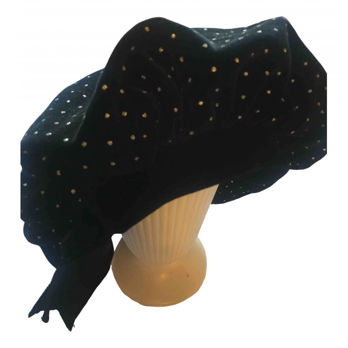 Emanuel Ungaro - Chapeau   pour femme en a paillettes - noir