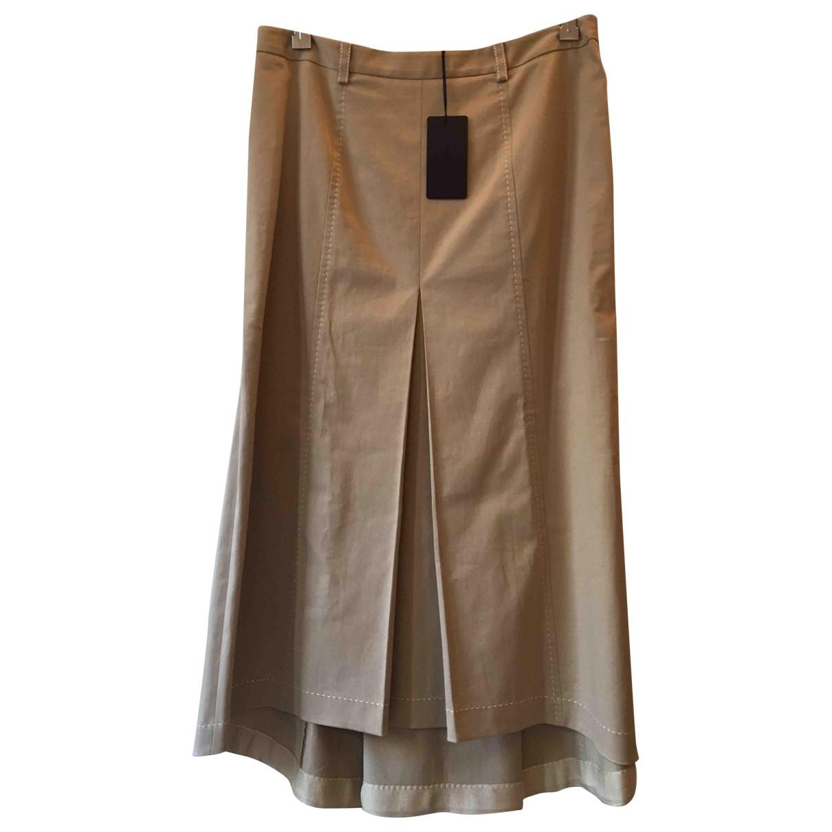 Prada \N Beige Cotton skirt for Women 42 IT