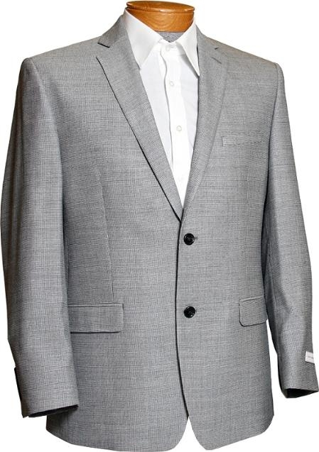 Mens Black and White Tweed 2 Button Designer Sports Jacket