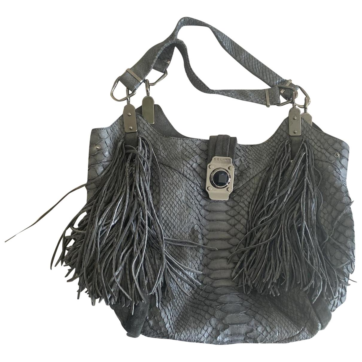 Celine \N Grey Python handbag for Women \N