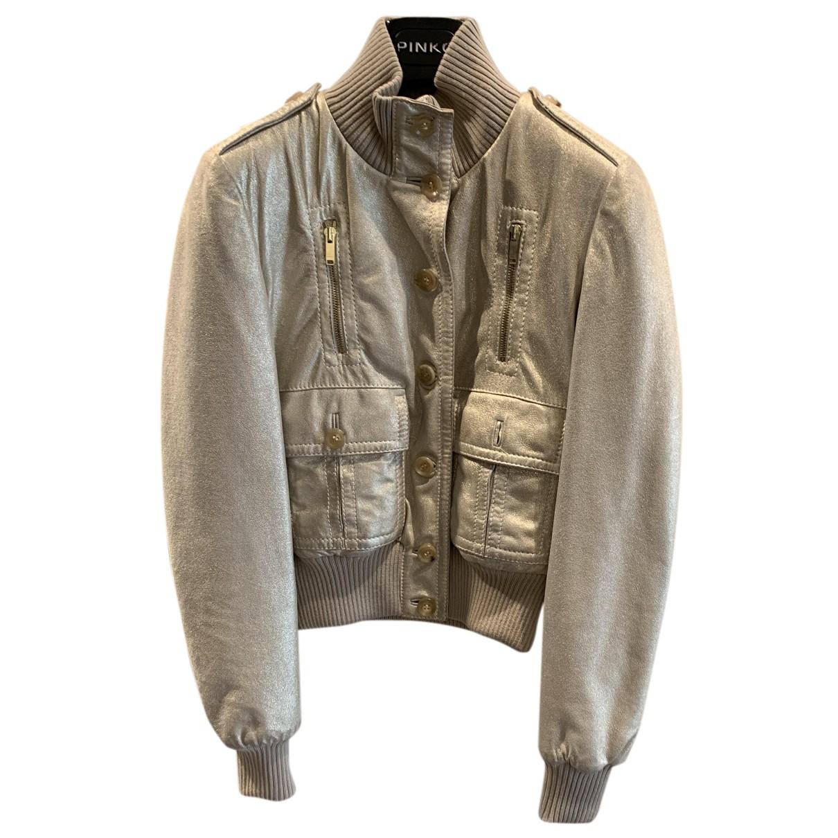 Gucci - Veste   pour femme en cuir - dore