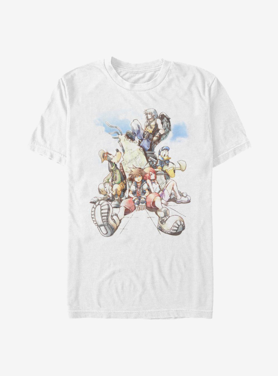 Disney Kingdom Hearts Group In The Clouds T-Shirt