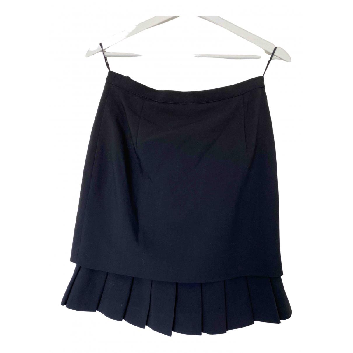 Cerruti N Black Wool skirt for Women 36 FR