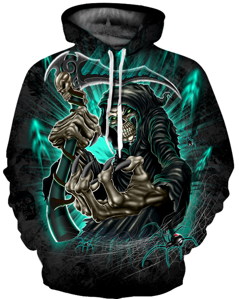 Clear Print Cool Design Loose Model Unisex Pullover 3D Painted Hoodie