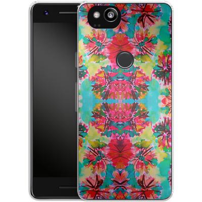 Google Pixel 2 Silikon Handyhuelle - Tropical Floral von Amy Sia