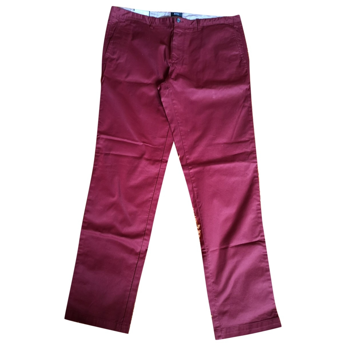 Boss \N Burgundy Cotton Trousers for Men 54 IT