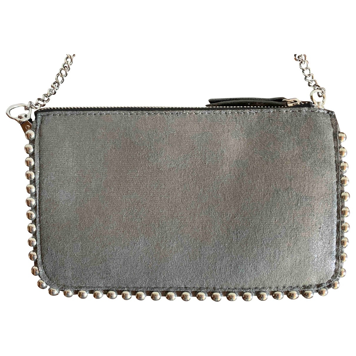 Zara \N Clutch in  Metallic Polyester