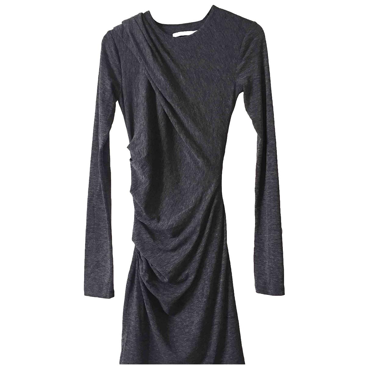 T By Alexander Wang \N Kleid in  Grau Polyester