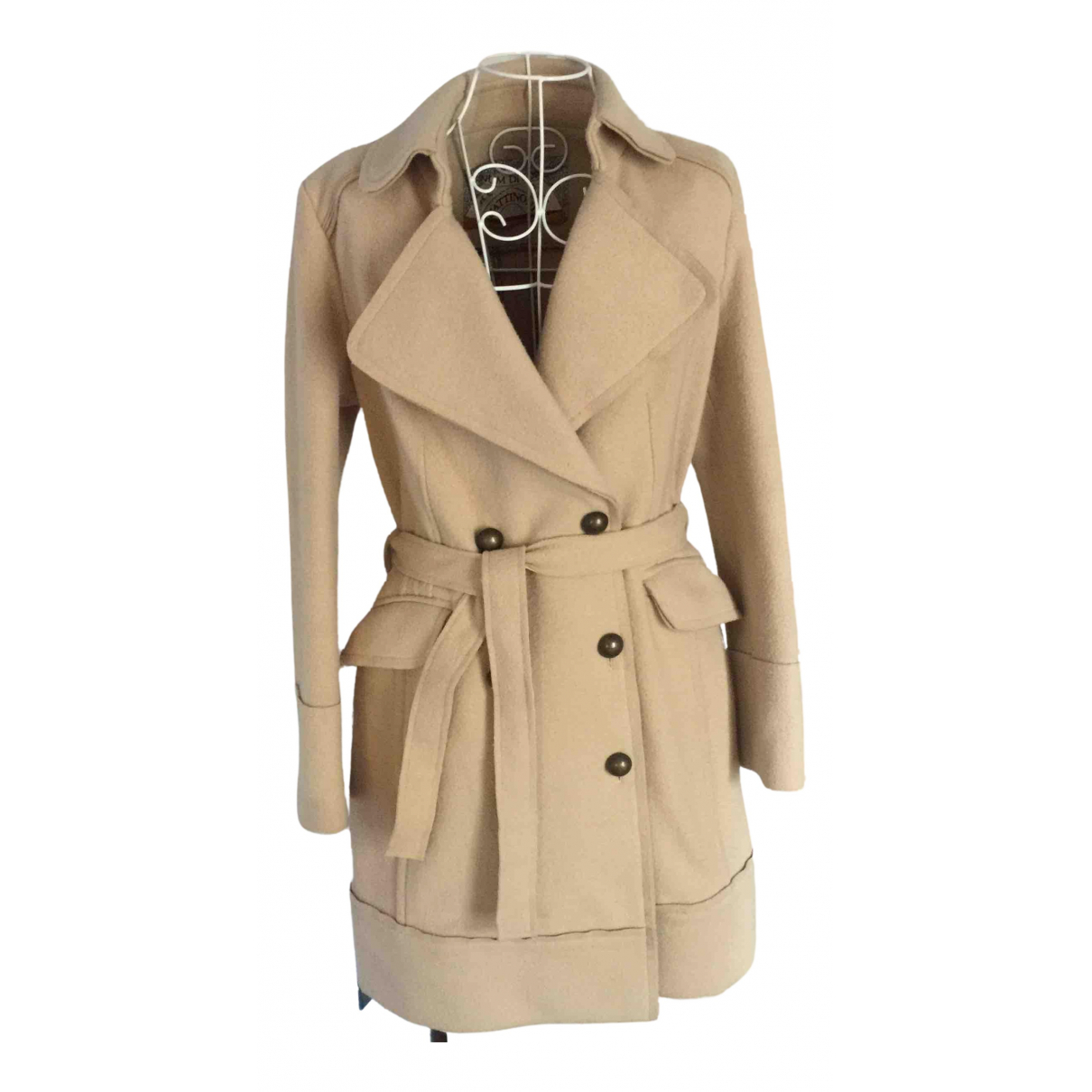 Non Signé / Unsigned N Beige Wool coat for Women M International
