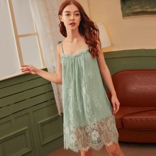 Contrast Lace Cami Night Dress