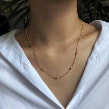 Einfache Metall Halskette