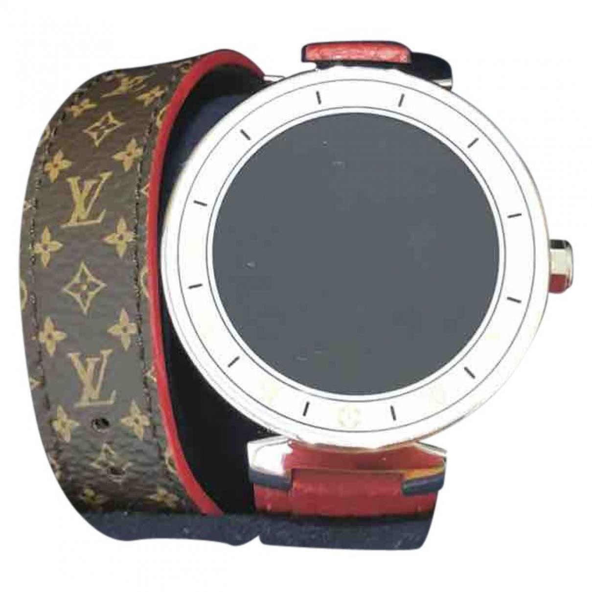 Louis Vuitton - Montre Tambour Horizon pour femme en ceramique - marron