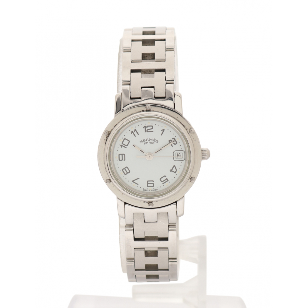 Hermes Clipper Uhr in  Silber Stahl