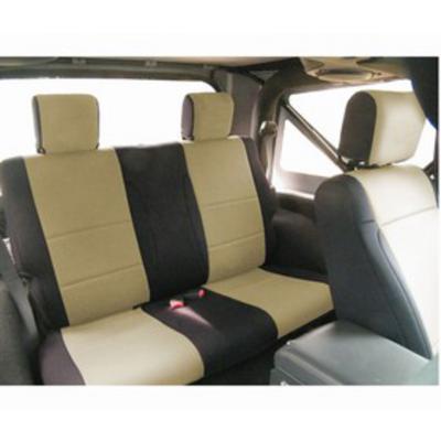 Coverking Neoprene Rear Seat Cover (Black/Tan) - SPC207