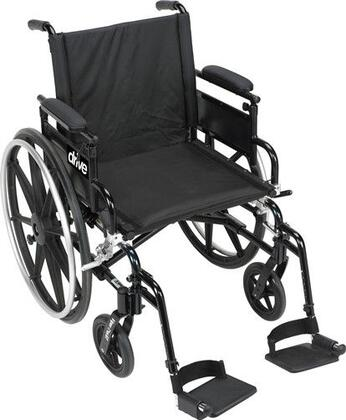 pla416fbfaarad-sf Viper Plus Gt Wheelchair With Flip Back Removable Adjustable Full Arms  Swing Away Footrests  16