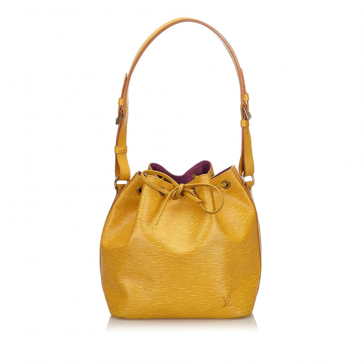 Louis Vuitton N Yellow Leather handbag for Women N