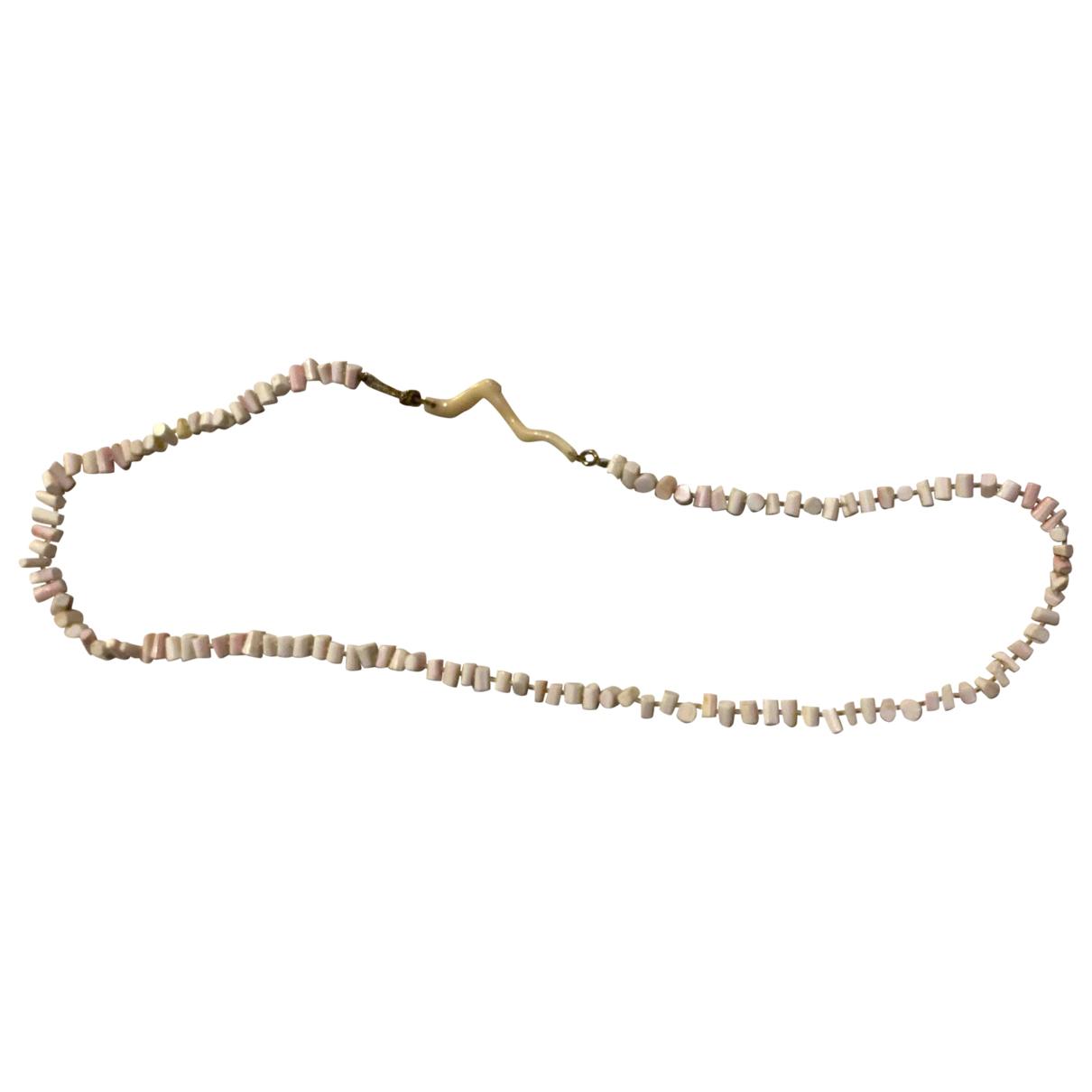 - Collier Corail pour femme en perles - rose