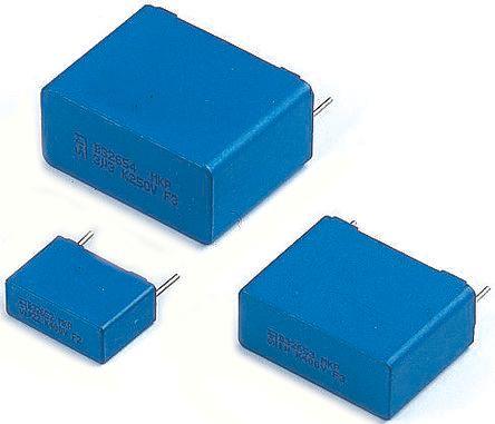 EPCOS 1.8μF Polypropylene Capacitor PP 1 kV dc, 480 V ac ±5% Tolerance Tab B32656S Series