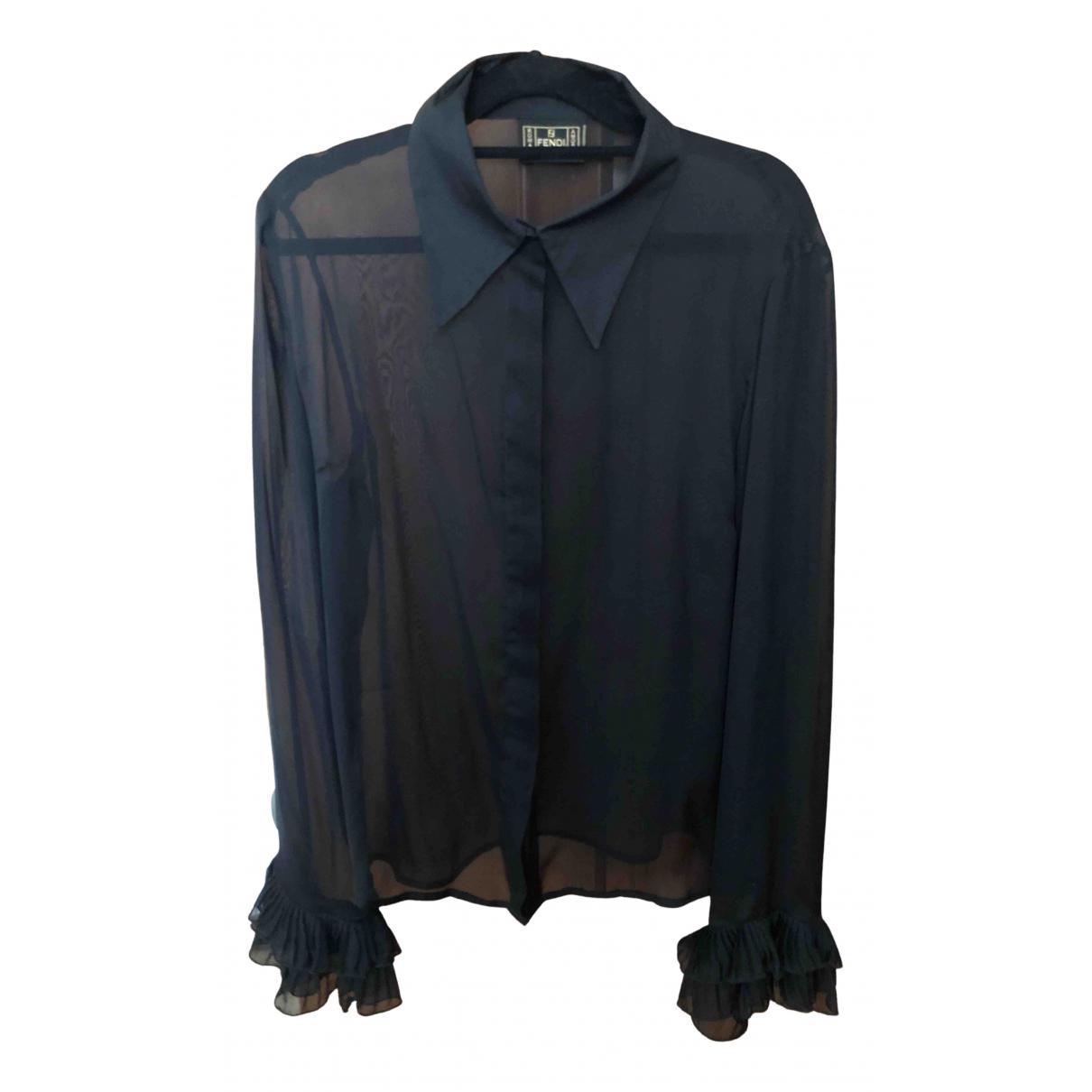 Fendi N Black Silk  top for Women 40 FR
