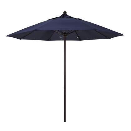 ALTO908117-5439 9' Venture Series Commercial Patio Umbrella With Bronze Aluminum Pole Fiberglass Ribs Push Lift With Sunbrella 1A Navy
