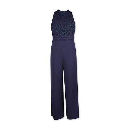 Speechless Big Girls Sleeveless Jumpsuit, 16 , Blue