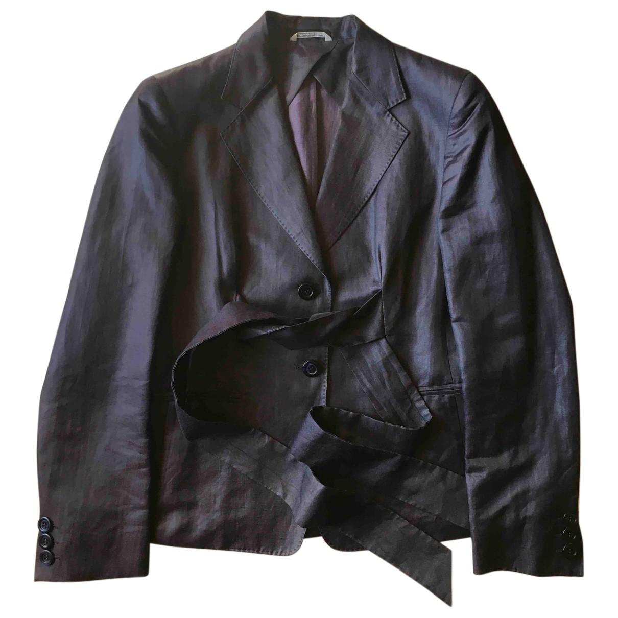 Max Mara - Veste   pour femme en lin - violet