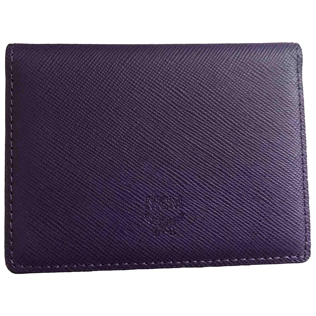 Mcm - Portefeuille   pour femme en cuir - violet