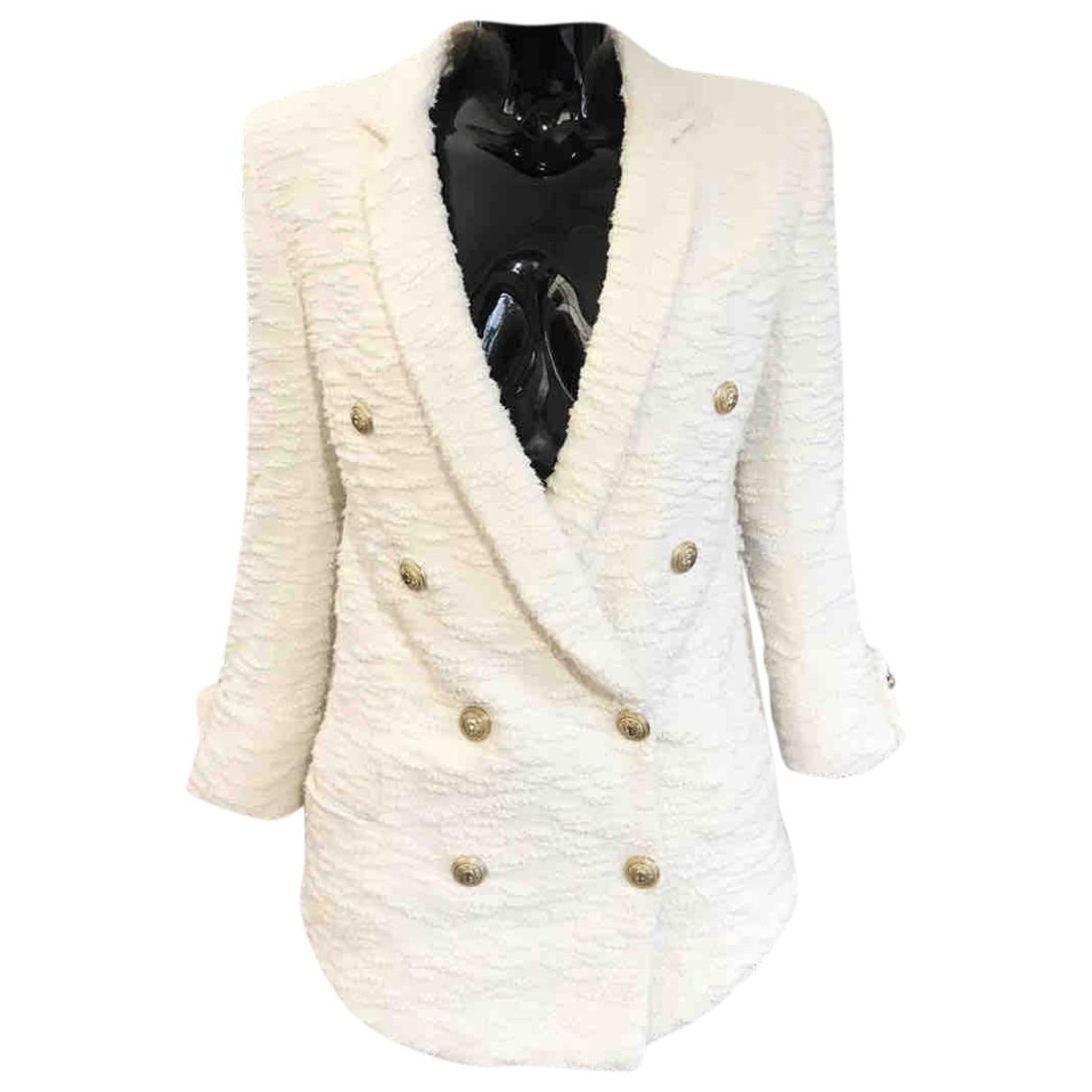 Balmain - Veste   pour femme en tweed - ecru