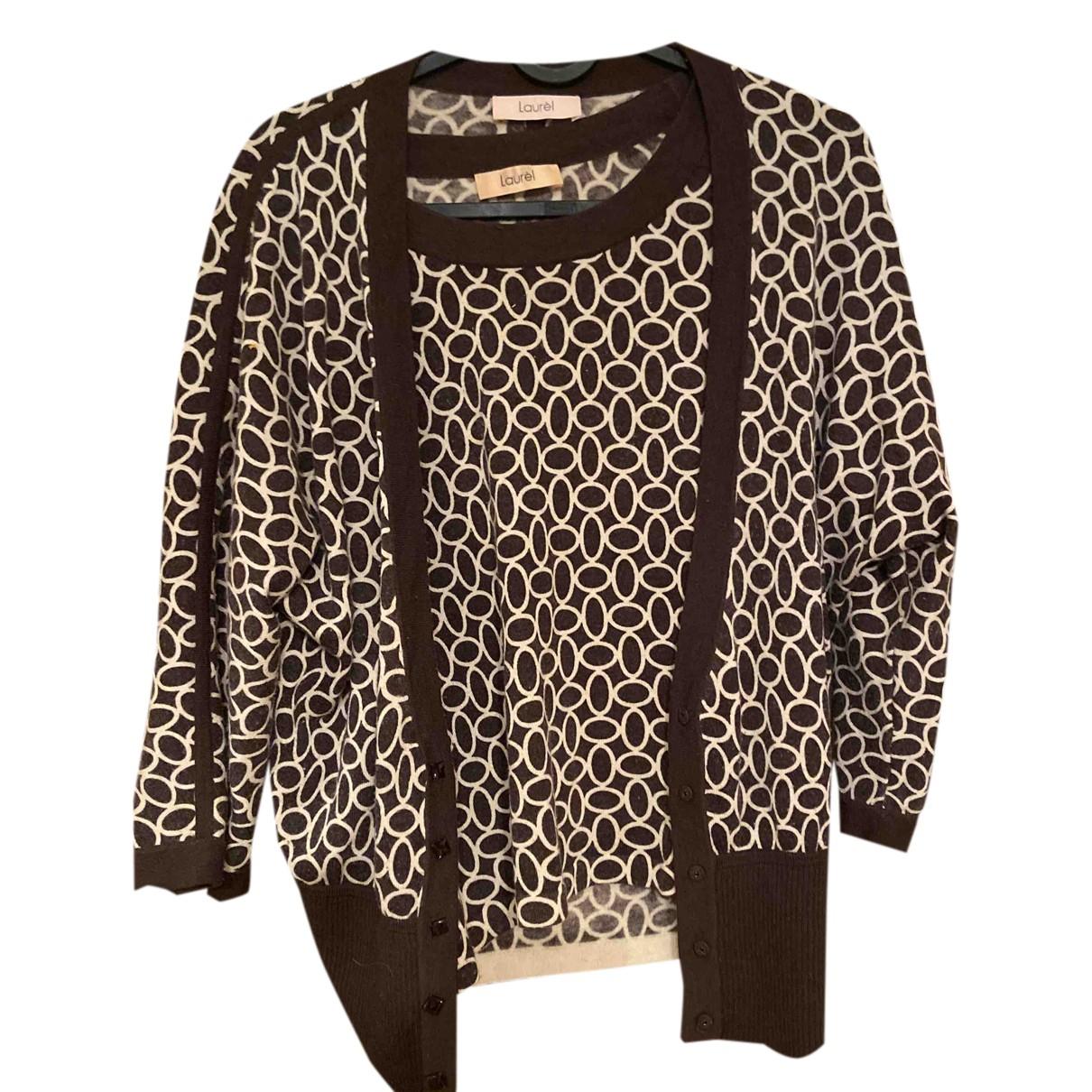 Laurel - Pull   pour femme en laine - marron