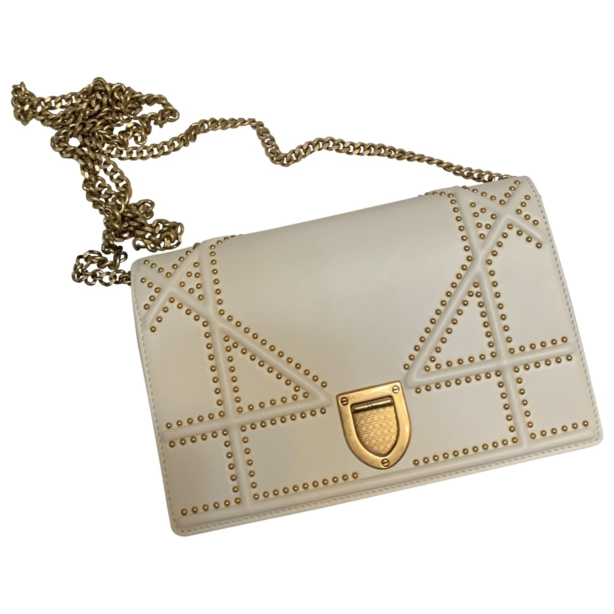 Dior Diorama White Leather handbag for Women \N
