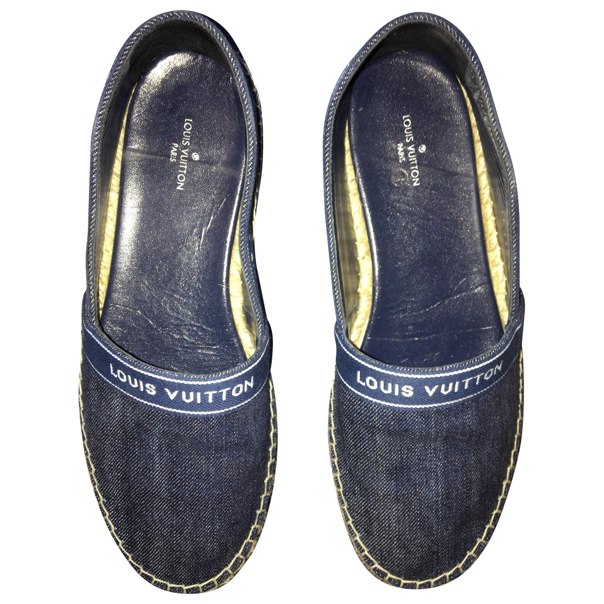 Louis Vuitton \N Navy Leather Espadrilles for Women 37 EU
