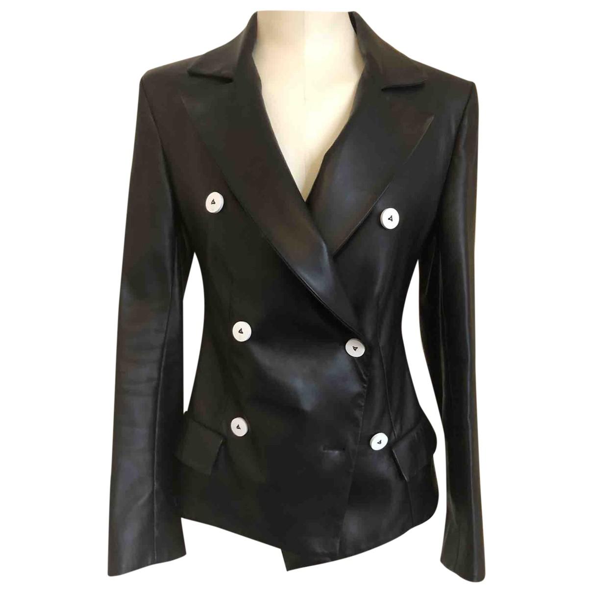 Louis Vuitton - Veste   pour femme en cuir - noir