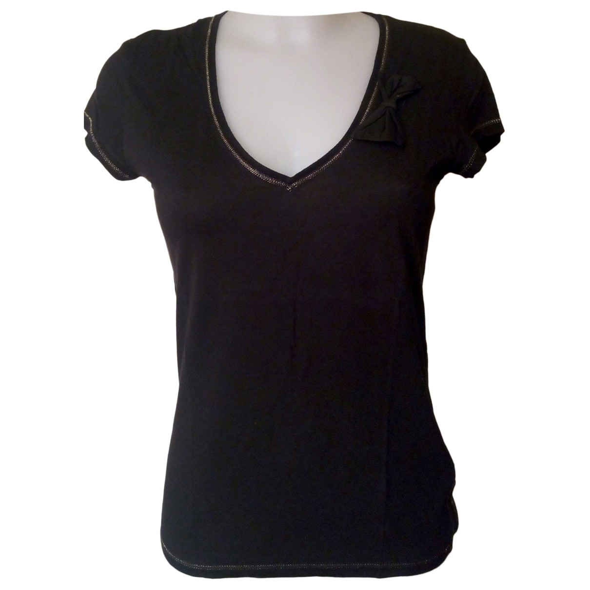 Armani Jeans \N Black Cotton  top for Women 46 IT