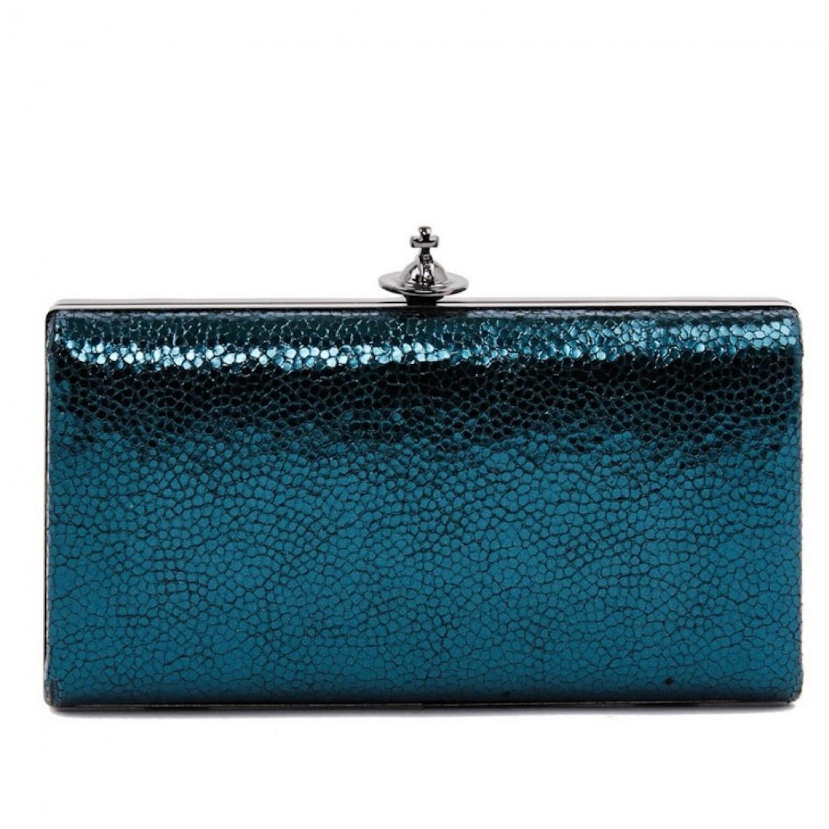 Vivienne Westwood \N Clutch in  Blau Leder