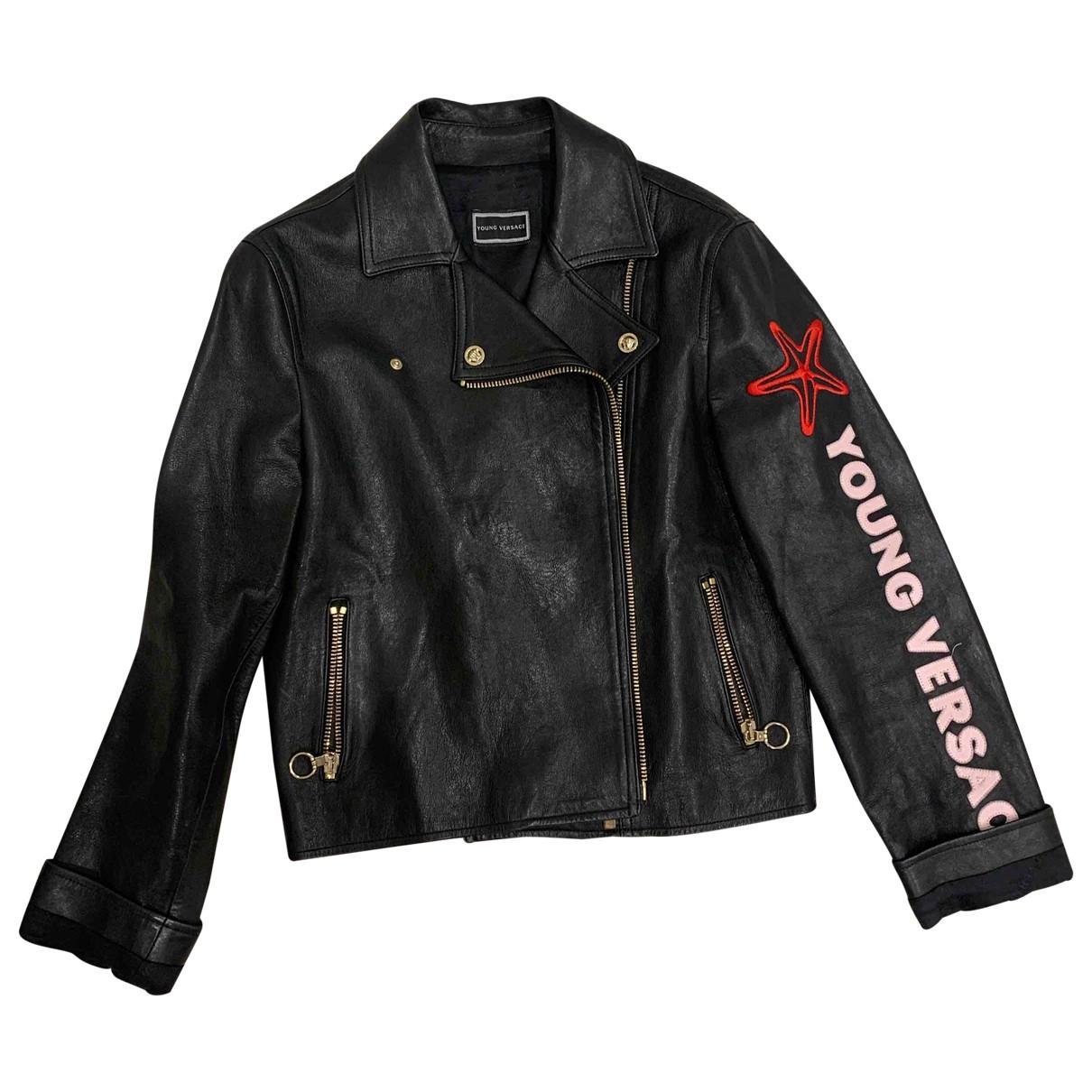 Versace X Kith \N Jacke, Maentel in  Schwarz Leder