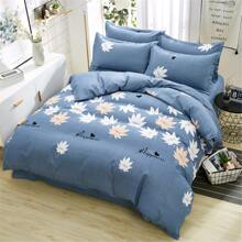 Set de cama con estampado de hoja sin relleno
