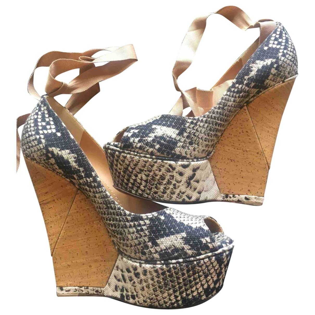 Lanvin \N Beige Cloth Heels for Women 39 EU