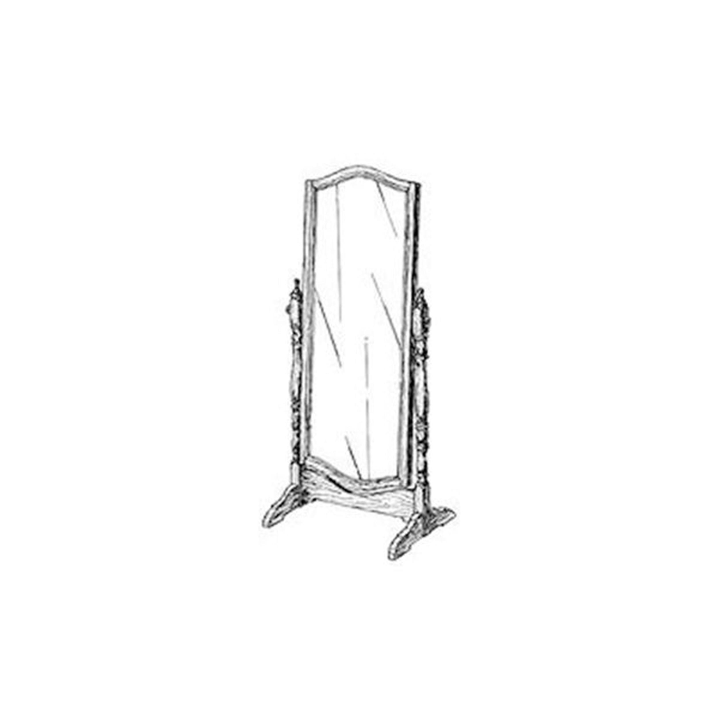 Woodworking Project Paper Plan to Build Cheval Mirror
