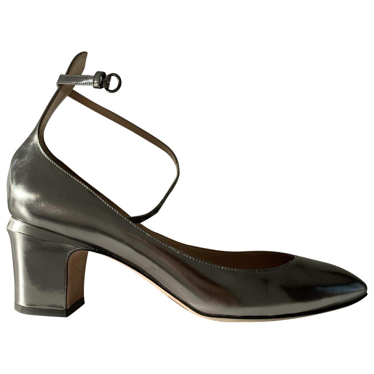 Valentino Garavani Tango Metallic Leather Heels for Women 40 EU