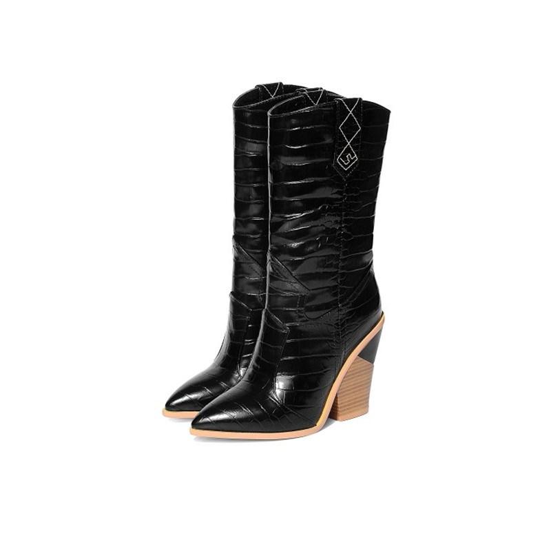 Ericdress Slip-On Plain Pointed Toe Thread Boots