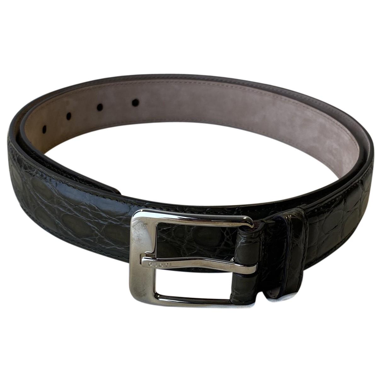 Cinturon de Cocodrilo Gucci
