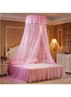 Round Lace Dome Polyester Hanging Bed Nets/Canopy