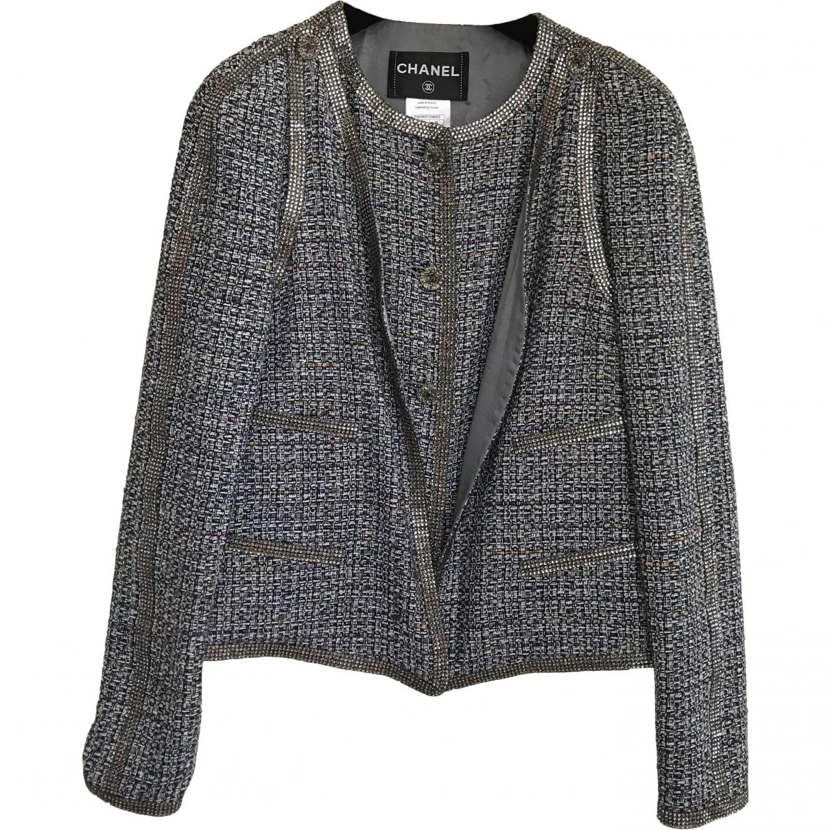 Chanel \N Jacke in  Bunt Tweed