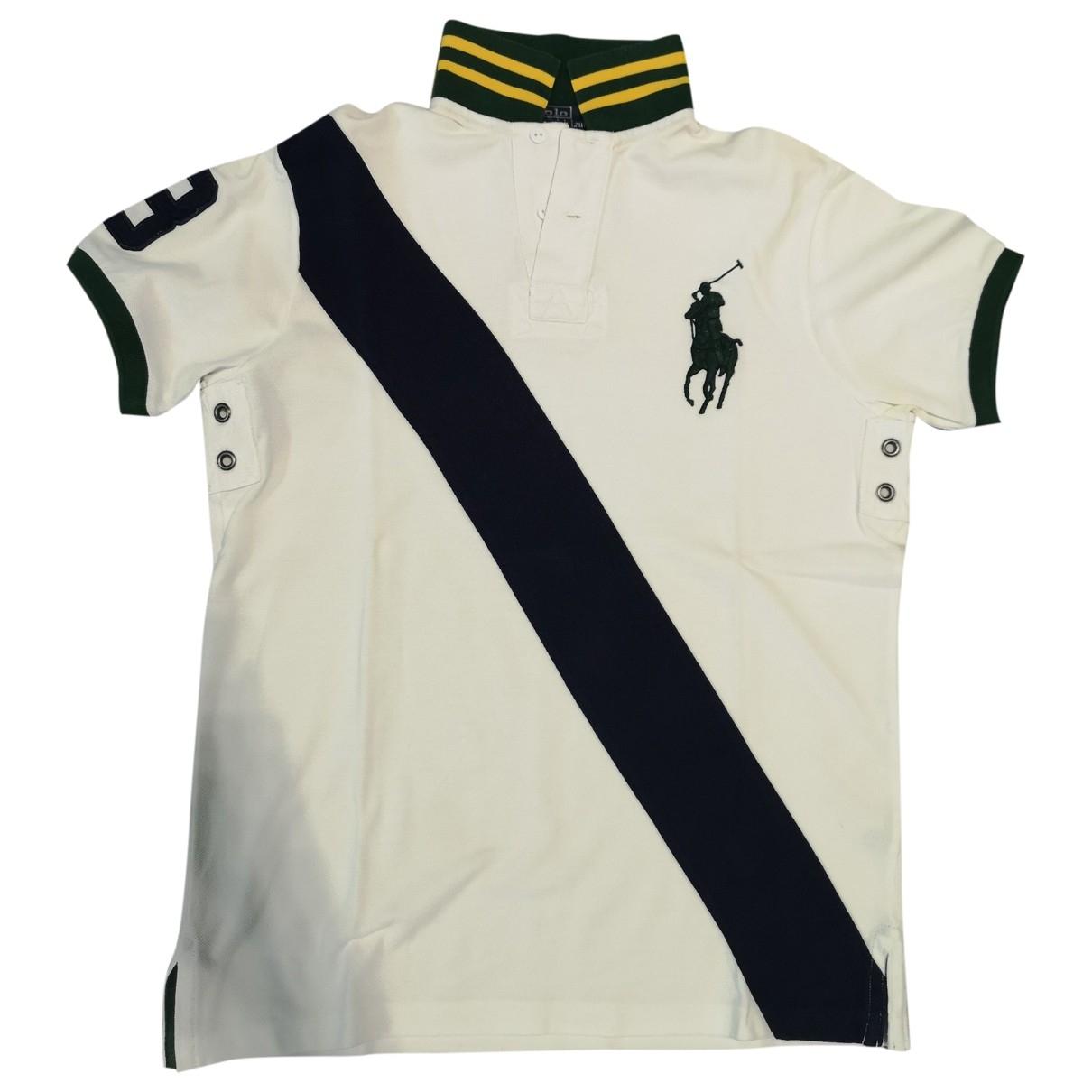 Polo Ralph Lauren - Polos Polo cintre manches courtes pour homme en coton - blanc