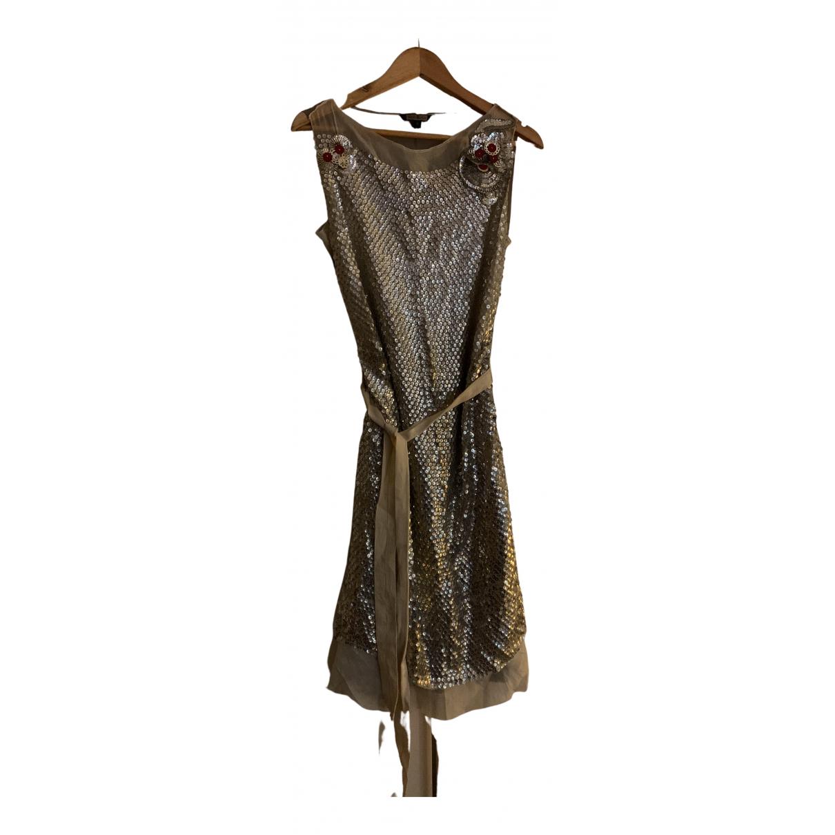 Rozae Nichols - Robe   pour femme en soie - argente