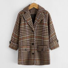 Toddler Girls Single Breasted Plaid Overcoat