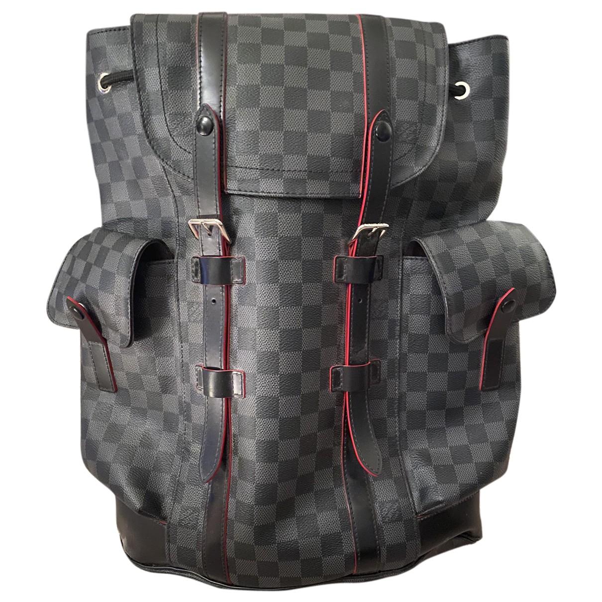 Louis Vuitton Christopher Backpack Grey Cloth bag for Men N