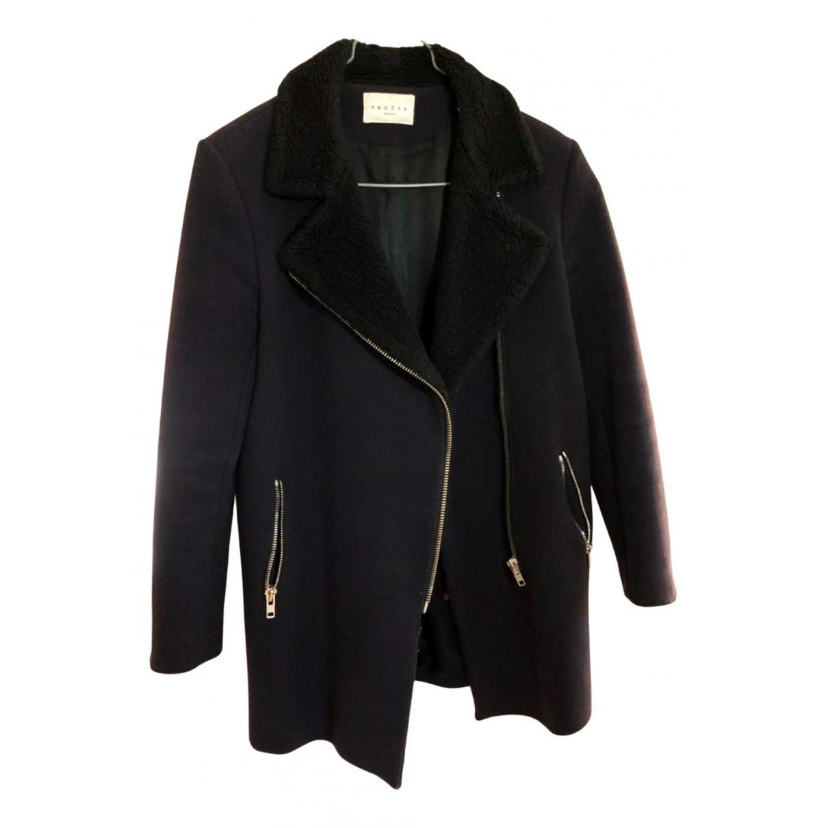 Sandro Spring Summer 2020 Navy Wool coat for Women 38 FR