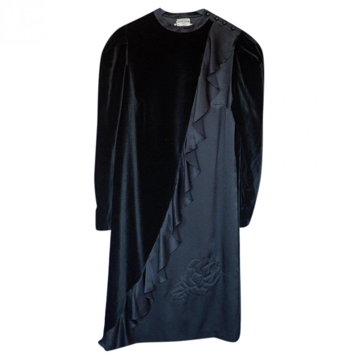 Pierre Cardin - Robe   pour femme en velours - noir