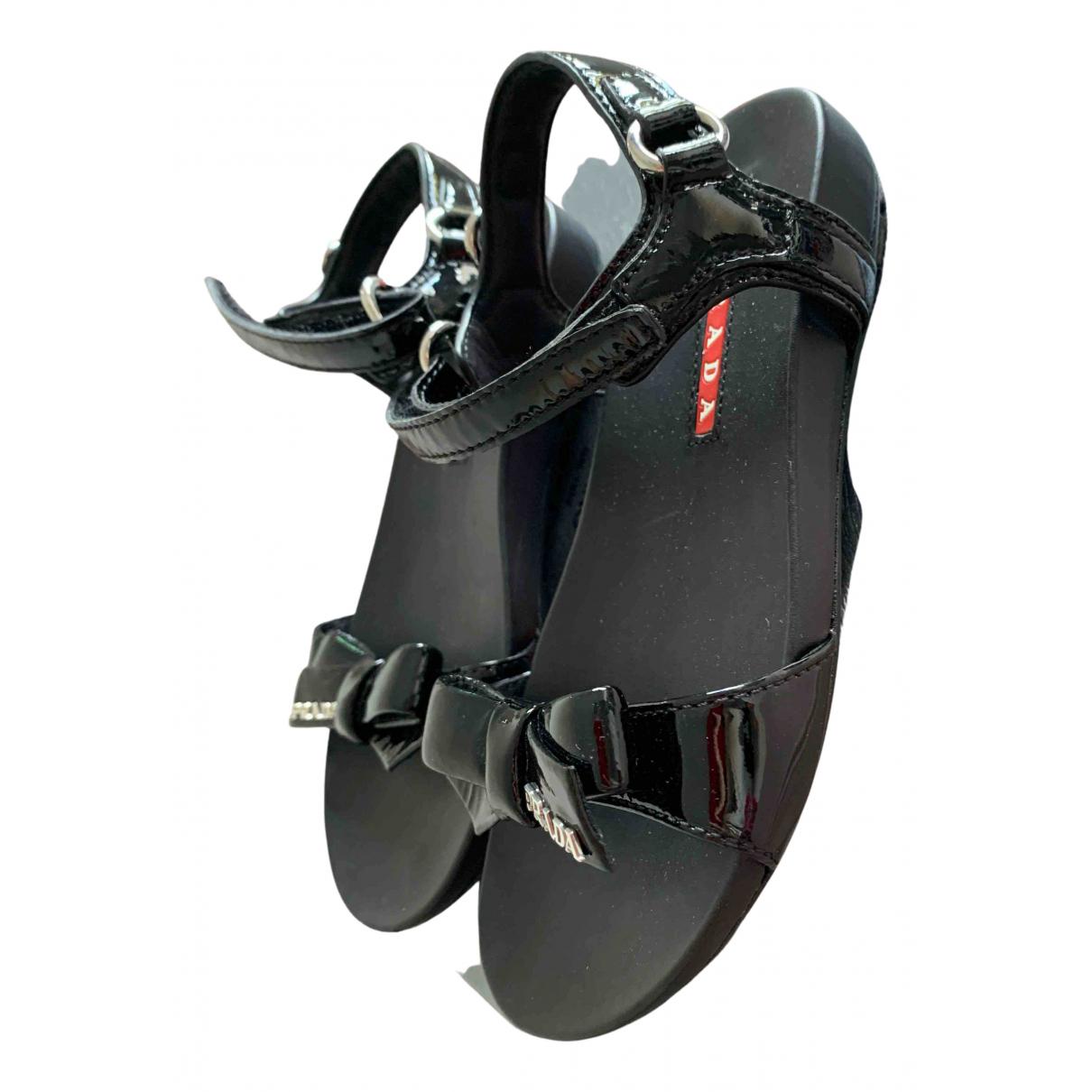 Prada - Sandales   pour enfant en caoutchouc - noir